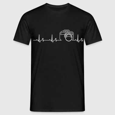 Heartbeat - camera - Men's T-Shirt