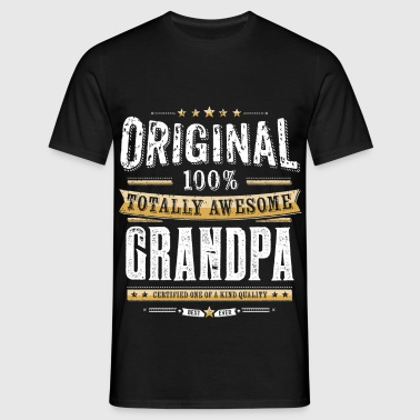 Original 100% Awesome Grandpa - T-skjorte for menn