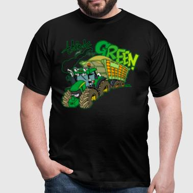 think green border - Mannen T-shirt