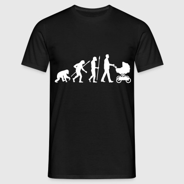 evolution_kinderwagen_mann_a_1c - Männer T-Shirt