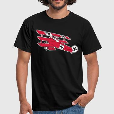 Fokker Airplane Flugzeug Roter Baron Red World War - Men's T-Shirt