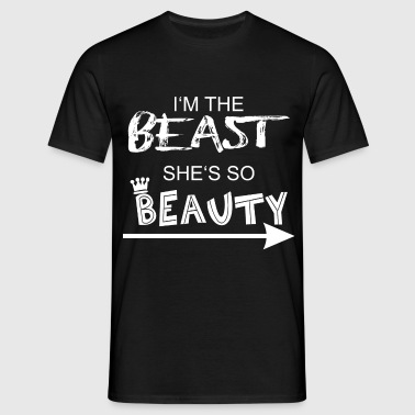 Beast & Beauty 1 - Mannen T-shirt