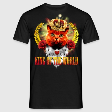Red Cat King of the World - rote Königs-Katze - Männer T-Shirt