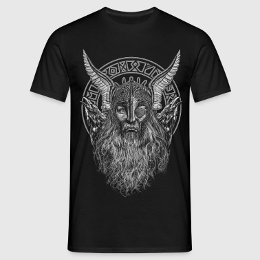 ODIN AND HIS RAVENS - Men's T-Shirt