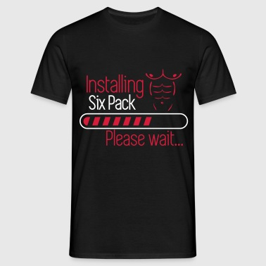 Installing six pack - Funny Gym - Men's T-Shirt