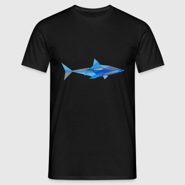 Geometric Shark - Men's T-Shirt