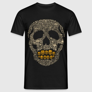 The Golden Skull - Men's T-Shirt