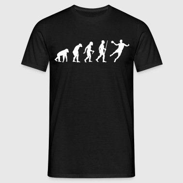 Handballer Evolution - Mannen T-shirt