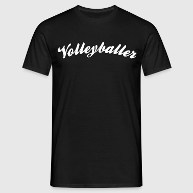 volleyballer cool curved logo - Men's T-Shirt