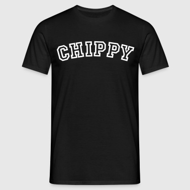 chippy curved college style logo - Men's T-Shirt