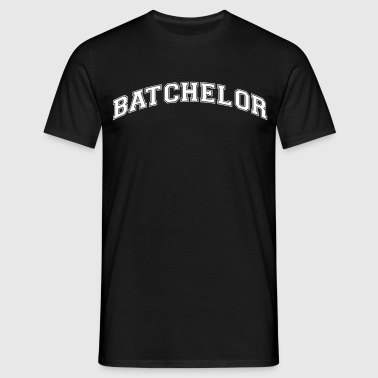 batchelor college style curved logo - Men's T-Shirt