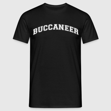 buccaneer college style curved logo - Men's T-Shirt