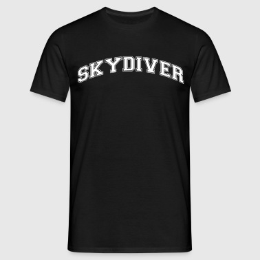 skydiver college style curved logo - Men's T-Shirt