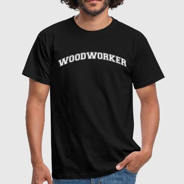 woodworker college style curved logo - Men's T-Shirt