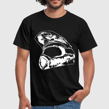 downhill helmet - Men's T-Shirt