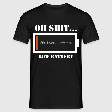 low Battery - Men's T-Shirt