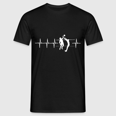 I love volleyball (volleyball heartbeat) - Men's T-Shirt