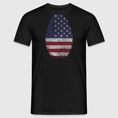 USA fingeraftryk - Herre-T-shirt
