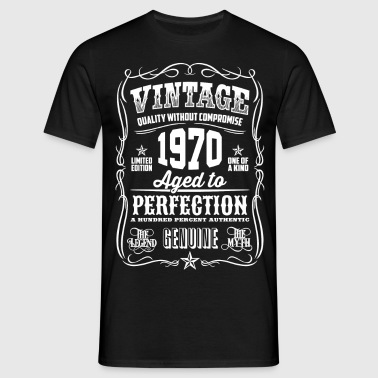 1970 Aged to Perfection White print - Men's T-Shirt