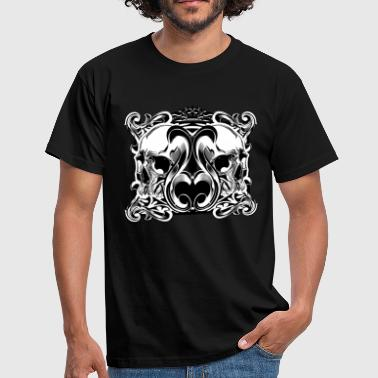 Tattoo Design | Pirat | Totenkopf - Männer T-Shirt