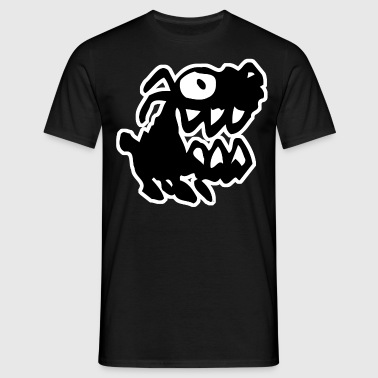 Bow Wow! Black Cartoon Dog by Cheerful Madness!! - Men's T-Shirt