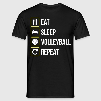 Eat Sleep Volleyball Repeat - Men's T-Shirt