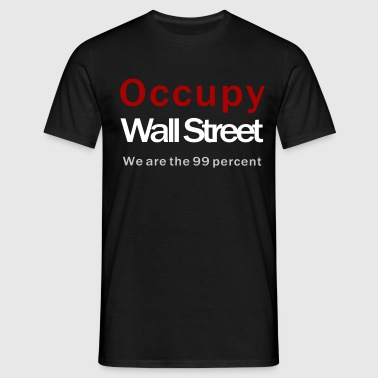 Occupy Wall Street black - Männer T-Shirt