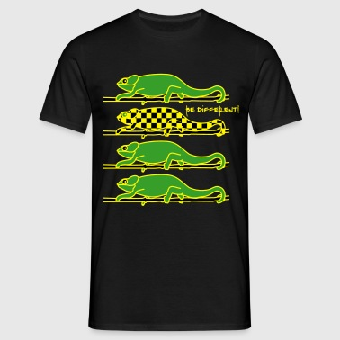 Chamaeleon be different! - Männer T-Shirt