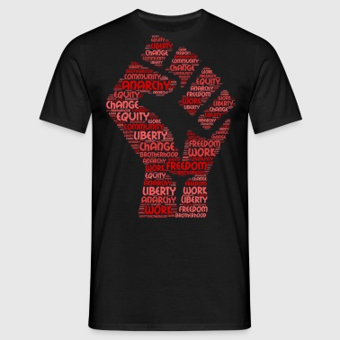 anarchie word cloud - Mannen T-shirt