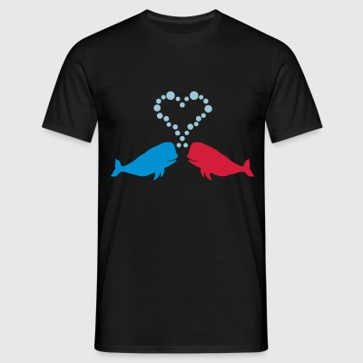 Love Whales - Gift - Men's T-Shirt