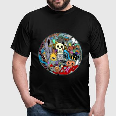 Halloween Collage couleur - T-shirt Homme