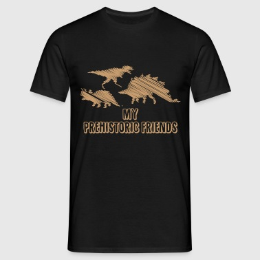 My Prehistoric Friends - Dinosaurs - Men's T-Shirt