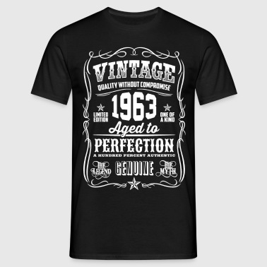 1963 Aged to Perfection White print - Men's T-Shirt