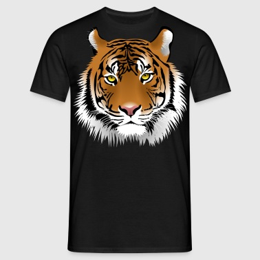Tiger head with whiskers majestically - Men's T-Shirt