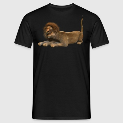 Lion and lioness couple - Men's T-Shirt