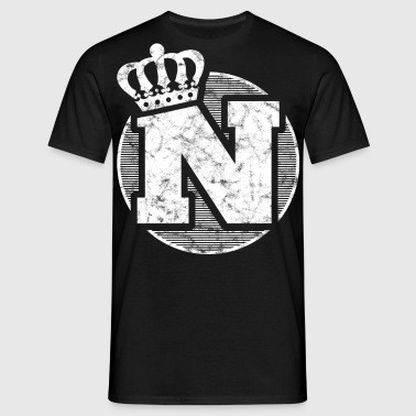 Stylish letter N with crown - Men's T-Shirt