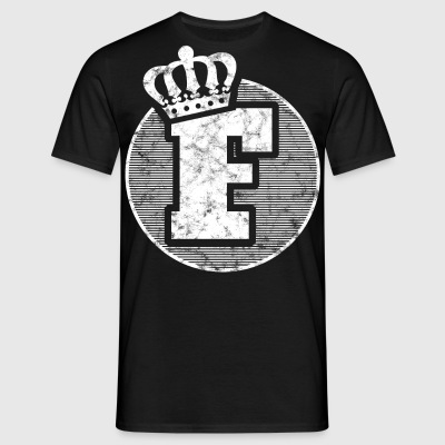 Stylish letter F with crown - Men's T-Shirt