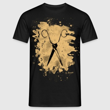Scissors - bleached natural - Männer T-Shirt