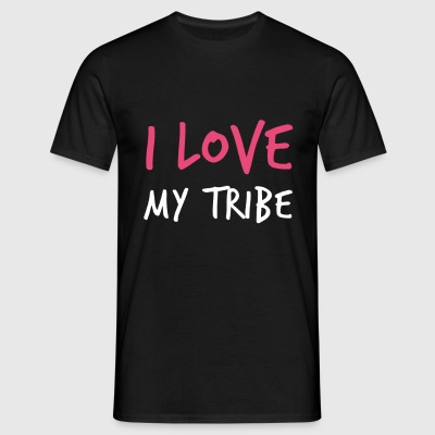 I Love My Tribe - Family Reunion - Men's T-Shirt