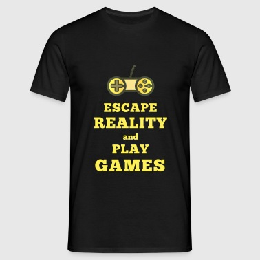 Escape reality Play games - Männer T-Shirt
