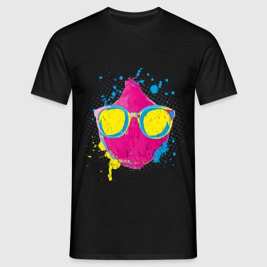 Pop Art Onion> Neon Gekleurde Plantaardige> Funny Onion - Mannen T-shirt