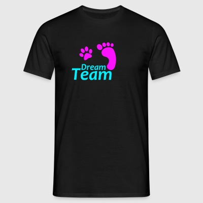 Dream Team Roze Blauw - Mannen T-shirt
