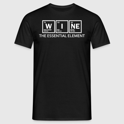 wijn - element - Mannen T-shirt