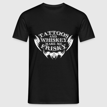 Tattoos and Whiskey - Männer T-Shirt