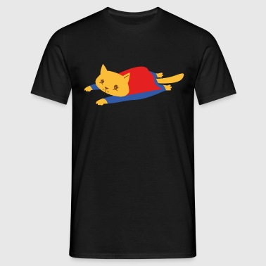 Geek | Superhero Cat | Funny  Illustration - Männer T-Shirt