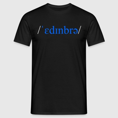 Edinburgh Scotland phonetic t-shirt - Men's T-Shirt