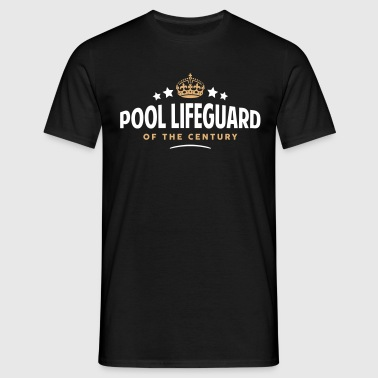 pool lifeguard of the century funny crow - Men's T-Shirt