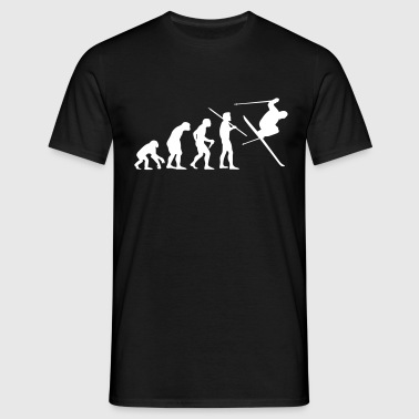 Evolution of Man - Skier #1 - Men's T-Shirt