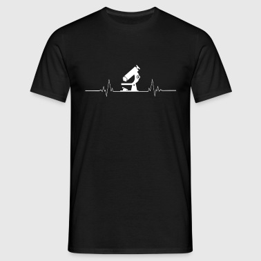 Biologist Heartbeat Biology - Men's T-Shirt