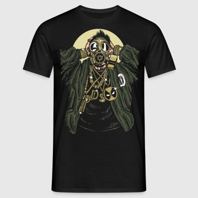 Gasmask gangsta - Men's T-Shirt